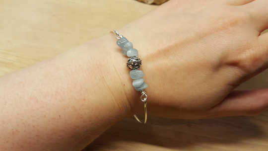Aquamarine bangle bracelet