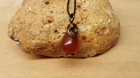 Mens Red Sardonyx pendant