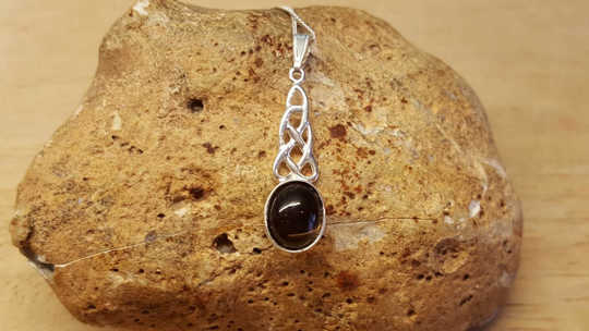 Celtic knot Smoky Quartz pendant