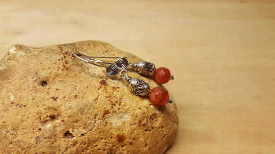 Red Sardonyx earrings
