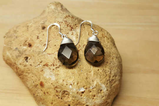 Brown Smoky Quartz earrings