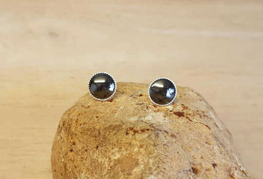 Hematite Stud earrings 8mm
