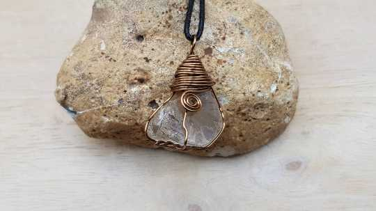 Mens Raw Smoky Quartz pendant
