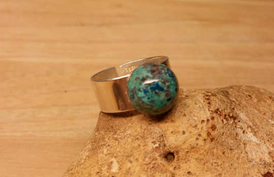 Mens Chrysocolla ring