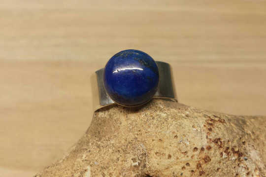 Sterling silver Men's Lapis Lazuli ring