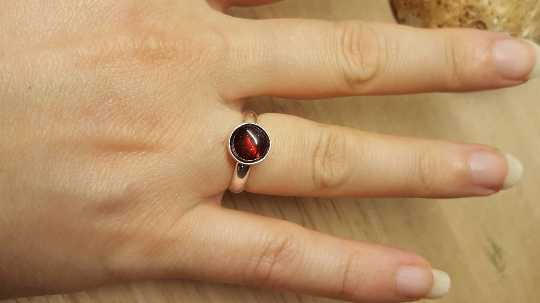 Dark Red Garnet Ring