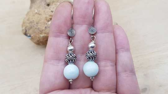 Hemimorphite earrings