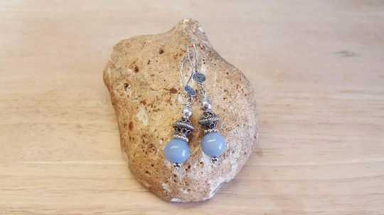 Bali silver angelite earrings