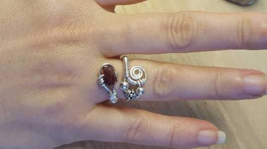 Wire wrap Zircon ring