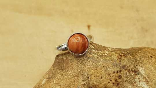 Minimalist Red jasper ring