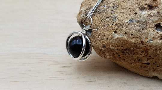 Small Black Tourmaline pendant