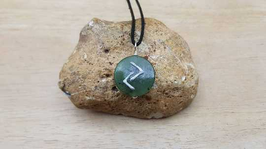 JARA Rune jade necklace