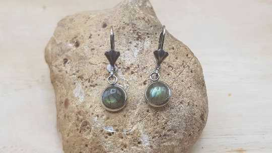 Hypoallergenic labradorite earrings