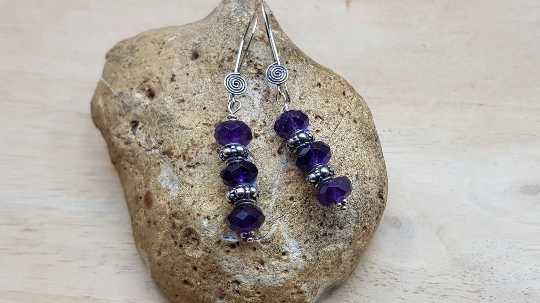 Elegant Amethyst earrings