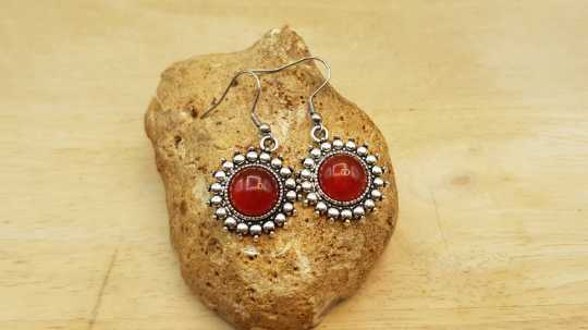 Boho Carnelian earrings