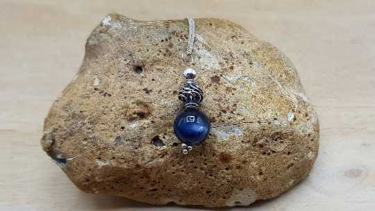 Kyanite sphere necklace