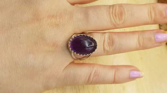 Oval Amethyst ring 18x13mm