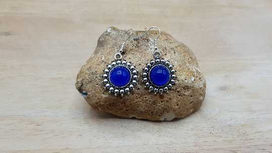 Boho Blue Onyx earrings