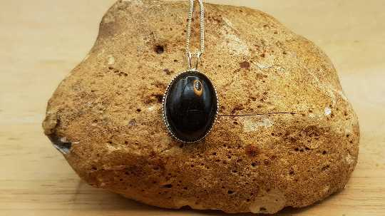 Golden sheen Obsidian pendant