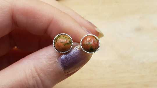 Unakite Stud earrings