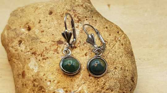 Bloodstone leverback earrings