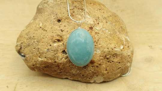 Amazonite pendant 25x18mm