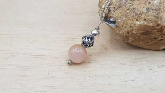 Morganite sphere pendant
