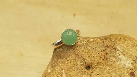 Green Aventurine stacking ring