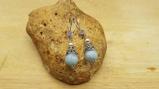 Celestite cone earrings