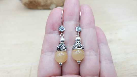 Aragonite cone earrings