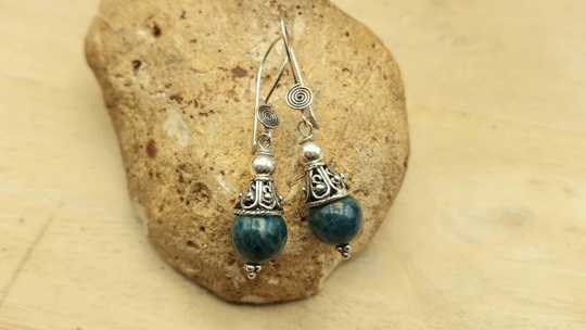 Apatite cone earrings