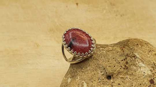 Rhodonite ring 18x13mm