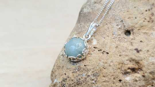 Tiny Aquamarine pendant
